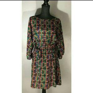 Miss Tina Medium Tribal Pattern Dress